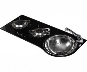 CRYSTAL GLASS 2 Burner Hob Sink Combination unit CAN